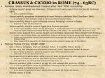 crassus cicero in rome 74 63bc