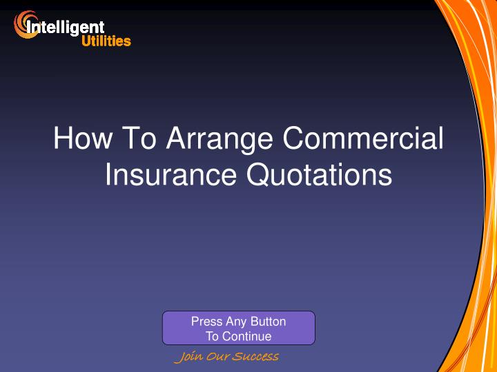 How to arrange commercial insurance quotations