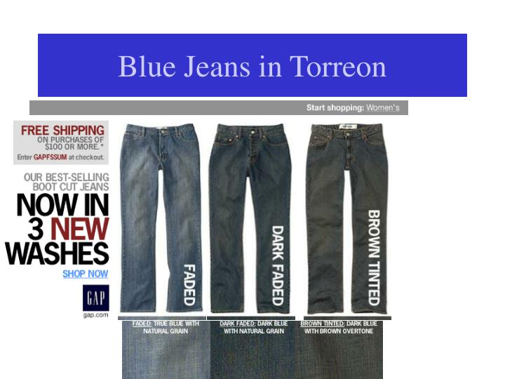 ppt blue jeans in torreon powerpoint presentation id 4924567