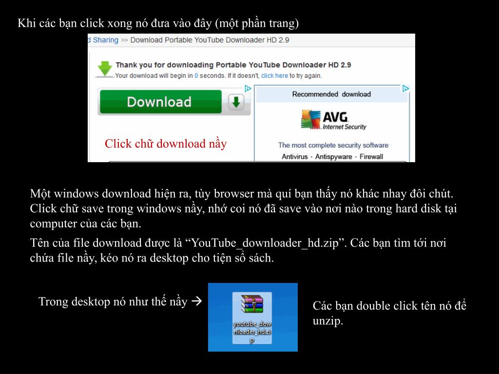 PPT - Hướng Dẫn Download YouTube Và Play Video File Vừa