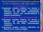 alcuni concatenamenti improbabili modificati in icd 10 edizione 1992 italia 2001 i