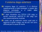 il sistema daga asterisco