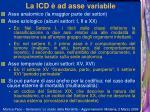 la icd ad asse variabile