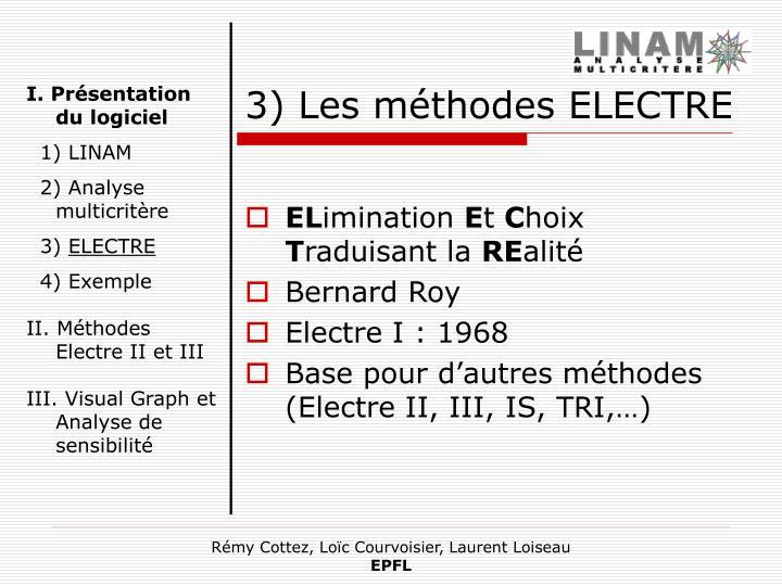 3) Les méthodes ELECTRE