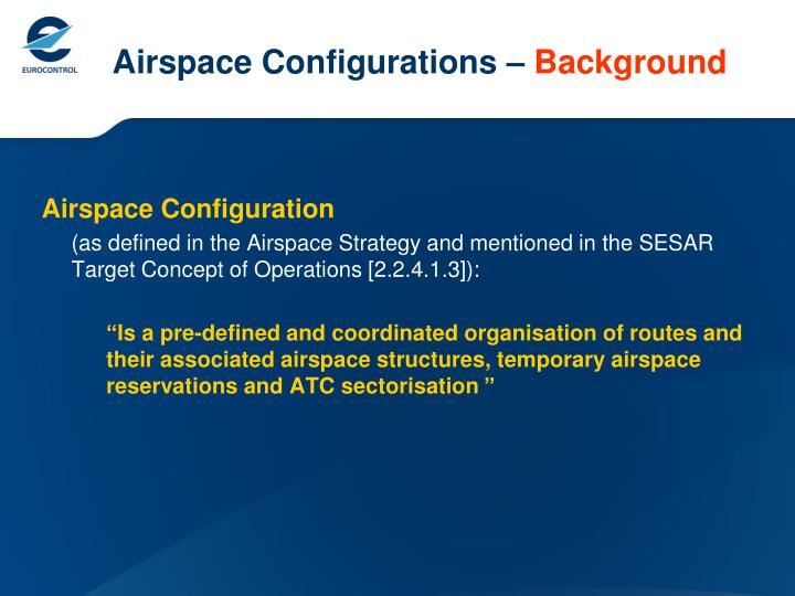 Airspace configurations background