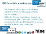 ibm career education programs