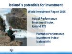 iceland s potentials for investment