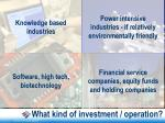 what kind of investment operation