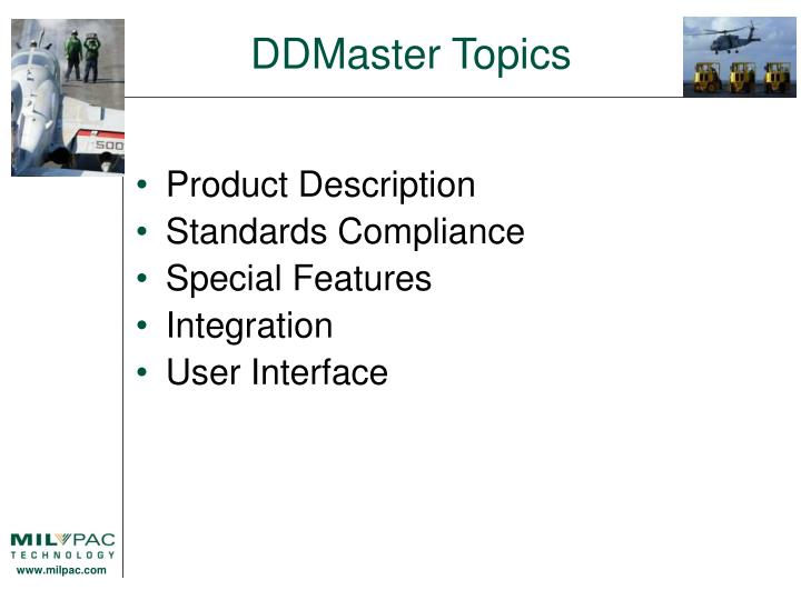DDMaster Topics