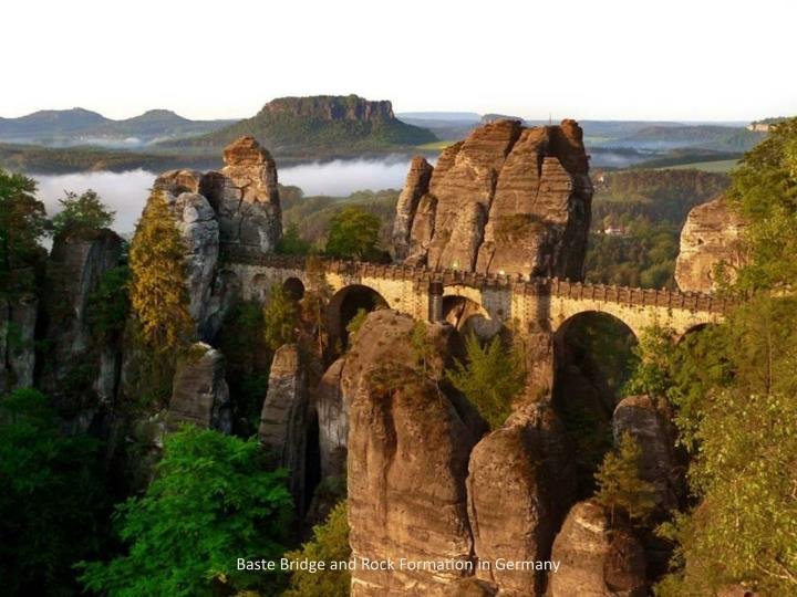 Baste Bridge and Rock Formation in Germany