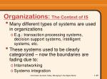 organizations the context of is