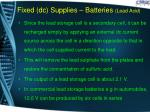 fixed dc supplies batteries lead acid1