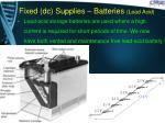 fixed dc supplies batteries lead acid2