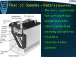 fixed dc supplies batteries lead acid3