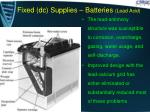 fixed dc supplies batteries lead acid4