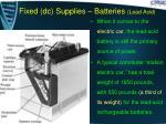 fixed dc supplies batteries lead acid5