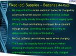 fixed dc supplies batteries ni cad1