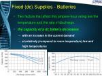 fixed dc supplies batteries10