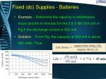 fixed dc supplies batteries11
