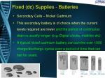 fixed dc supplies batteries6
