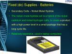 fixed dc supplies batteries8