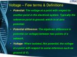 voltage few terms definitions