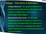 voltage few terms definitions1