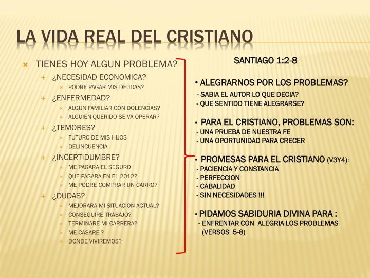 La vida real del cristiano