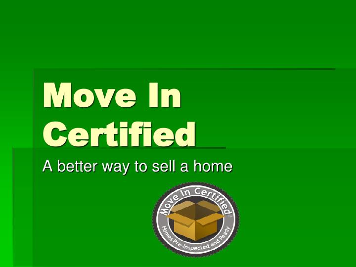 move in certified n.
