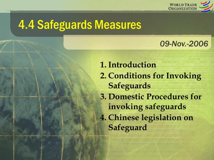 4 4 safeguards measures n.