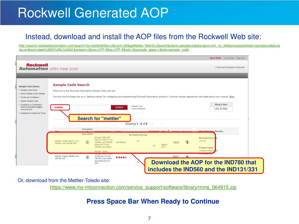 PPT - Rockwell PLC Program Example Using Ethernet/IP to an IND780