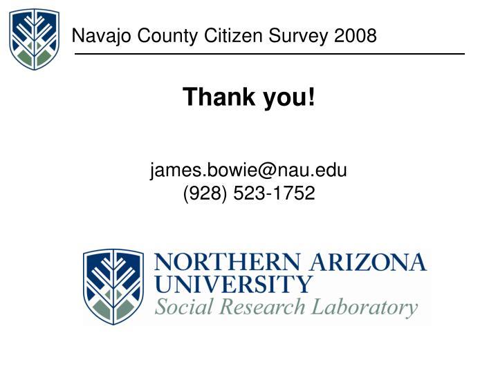 Navajo County Citizen Survey 2008