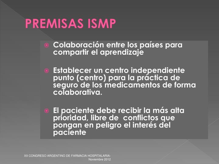 PREMISAS ISMP