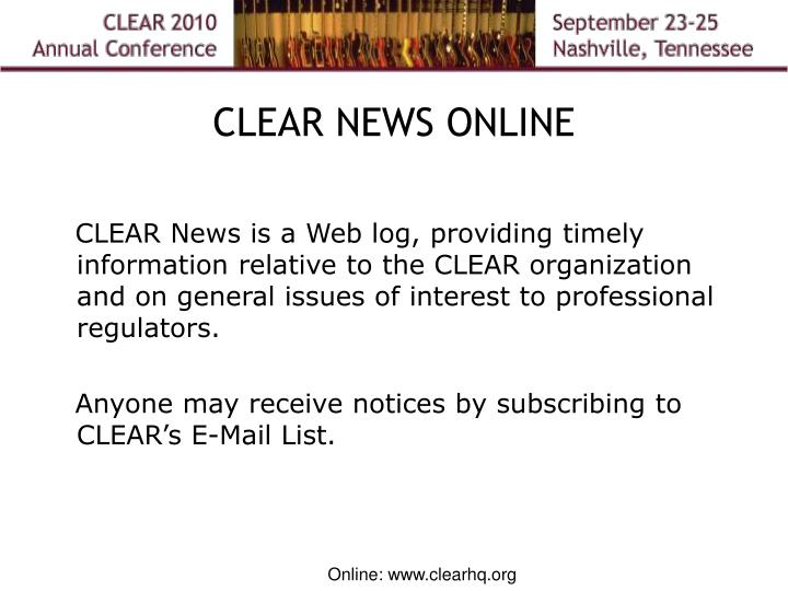 CLEAR NEWS ONLINE