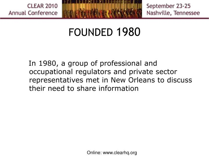 Founded 1980