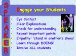 e ngage your students1