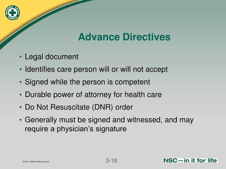 Advance Directives