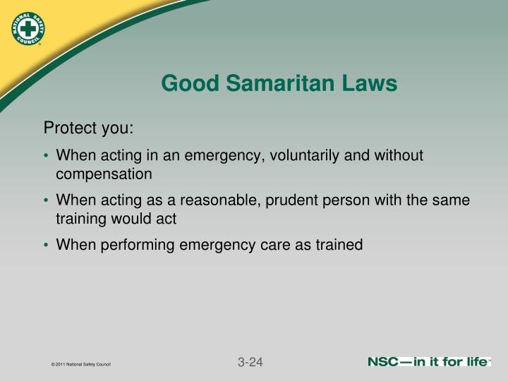 Good Samaritan Laws