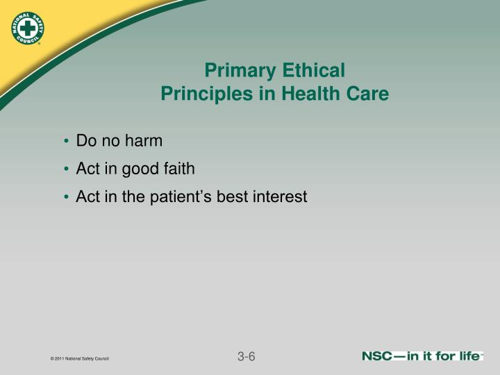 Primary Ethical
