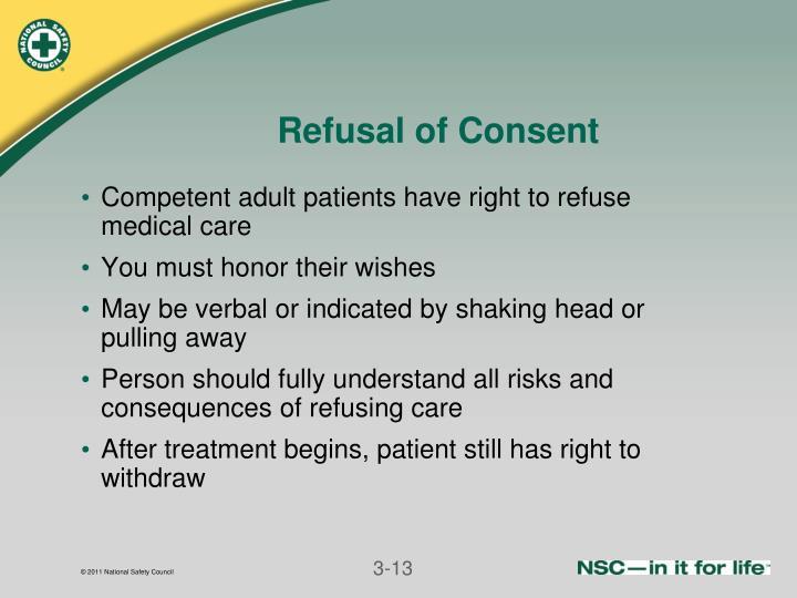 Refusal of Consent