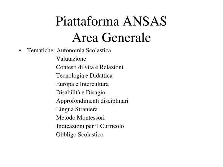 Piattaforma ANSAS
