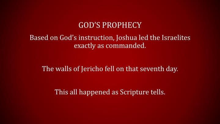 God's prophecy
