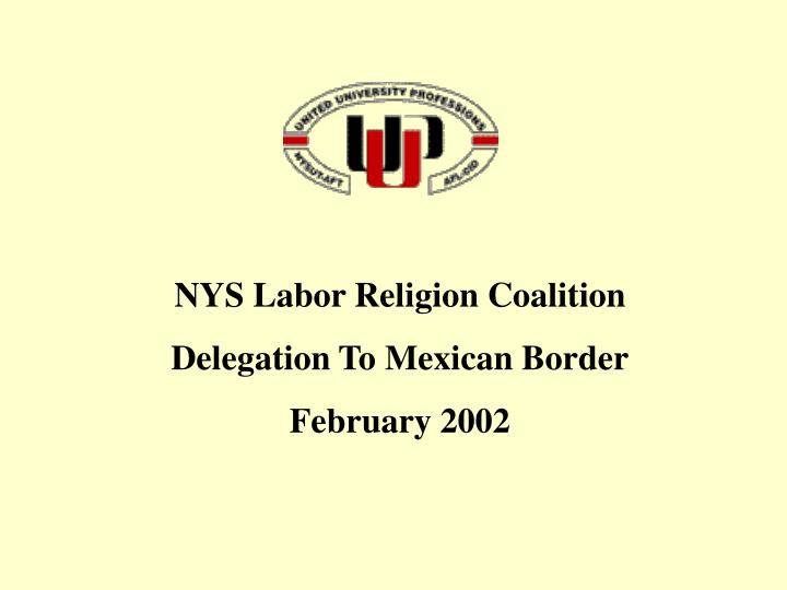 NYS Labor Religion Coalition