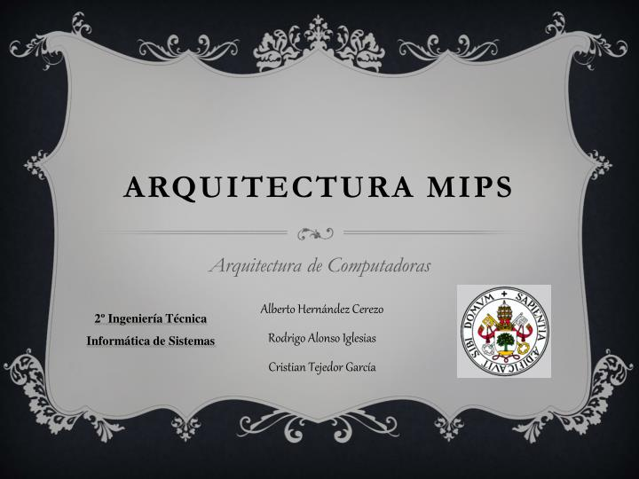 arquitectura mips n.