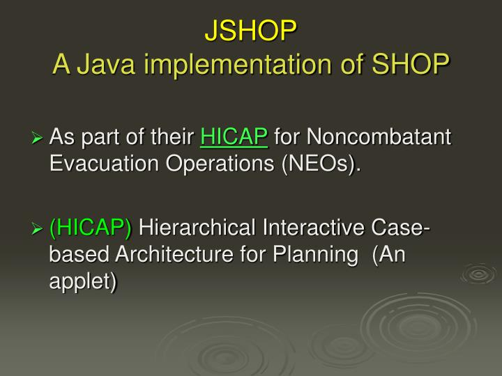 Jshop a java implementation of shop