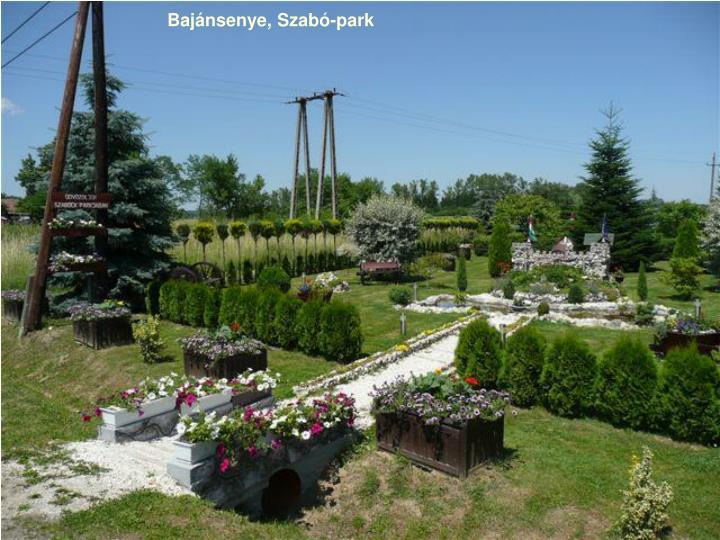 Bajánsenye, Szabó-park