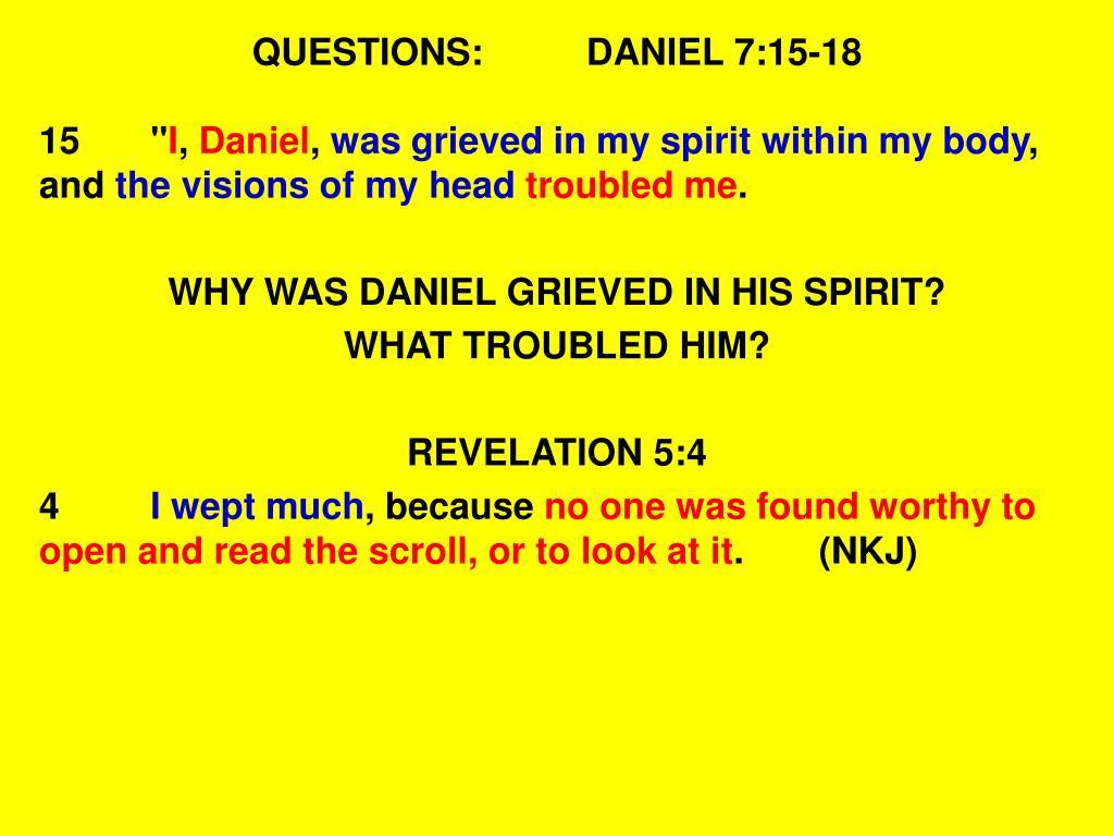 PPT - DANIEL CHAPTER SEVEN PowerPoint Presentation - ID:4929195
