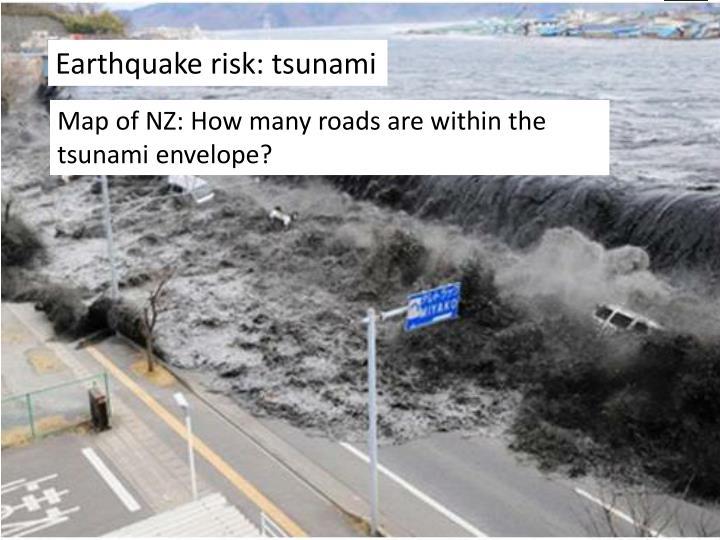 Earthquake risk: tsunami