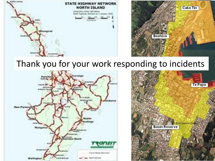 Thank you for your work responding to incidents