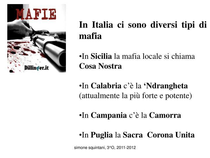 Ppt in italia ci sono diversi tipi di mafia in sicilia - Diversi tipi di figa ...